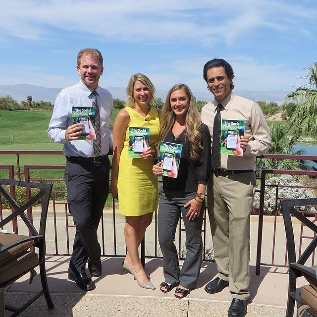Zeb Welborn, Amy Spittle, Nichole Tudor Nelson and John Hakim at the KemperSports Regional Golf Meeting at Desert Willow Golf Resort in Palm Springs, California.