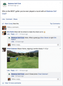 Golf Course Social Media Facebook