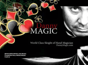Danny Magic to Perform at Southern California Charity Golf Classic