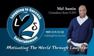Mel Austin Laughing to Success