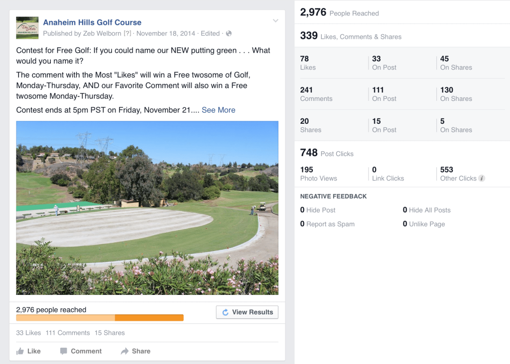 Facebook Marketing for Golf Courses