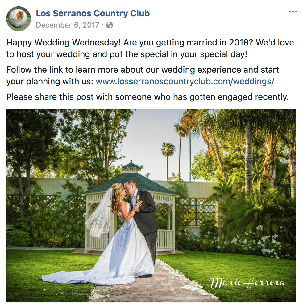 Wedding Wednesday at Los Serranos Country Club