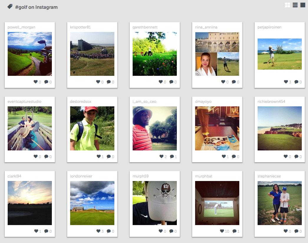 #Golf on Instagram